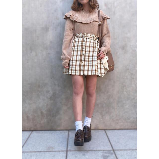 one after another NICE CLAUP(ワンアフターアナザーナイスクラップ)のナイスクラップ  チェックミニスカート レディースのスカート(ミニスカート)の商品写真