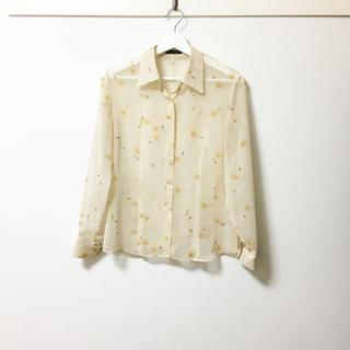 トーガ(TOGA)のMASAIQUE❣️定価3万 ヴィンテージフラワー柄 シースルーシャツ(シャツ/ブラウス(長袖/七分))