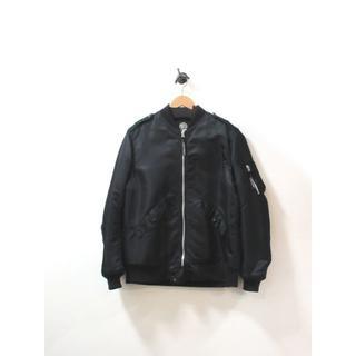 クーティー(COOTIE)の美品 クーティ ジャンパー ジャケット MA1 ナイロン 中綿 黒 XL(フライトジャケット)