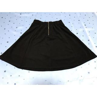 ジーユー(GU)のGU ジーユー ブラック 黒 フレアスカート(ひざ丈スカート)