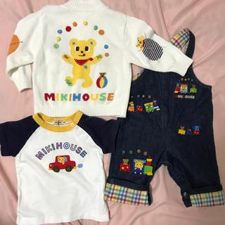 ミキハウス(mikihouse)のミキハウス 80 カーディガン サロペット Tシャツ(カーディガン/ボレロ)