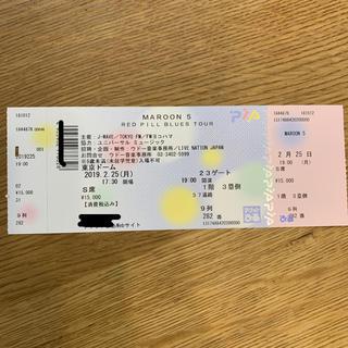 【みずほ様 お取引中】MAROON5 東京ドーム公演 チケットS席1枚(海外アーティスト)