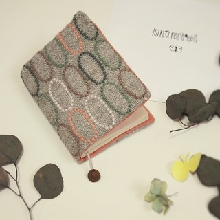 ミナペルホネン ブックカバー*手帳カバー tarte*グレー ハンドメイド (ブックカバー)