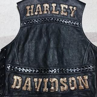 HARLEY DAVIDSON / ハーレーダビッドソン レザーベスト 特注品(ライダースジャケット)