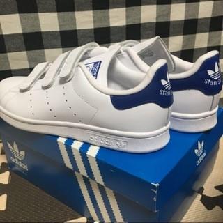 アディダス(adidas)の【新品】adidas スタンスミス ベルクロ(ブルー:26.5cm)(スニーカー)