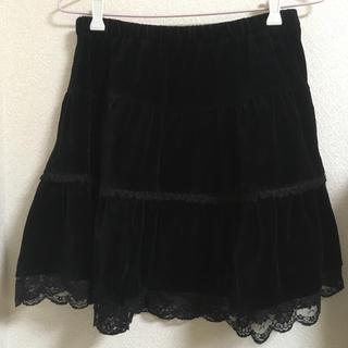 リズリサ(LIZ LISA)のベロア膝丈スカート リズリサ(ひざ丈スカート)