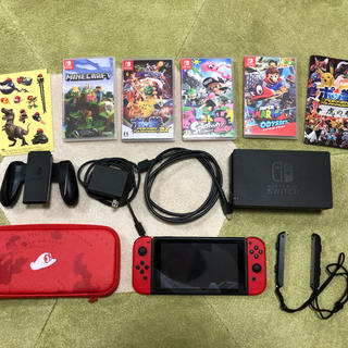 ニンテンドースイッチ(Nintendo Switch)の任天堂 SWITCH マリオオデッセイセット スプラトゥーン2 マイクラ ポッ拳(家庭用ゲーム本体)