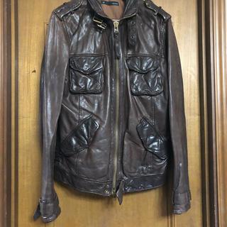 ジョンブル(JOHNBULL)のJohnbull 革ジャケット ブラウン 羊革 レア インポート(レザージャケット)