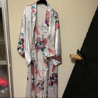 浴衣 花柄 花魁 白 ウォッシャブル ダンサー キャバ コスプレ