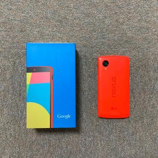 アンドロイド(ANDROID)のNexus5 SIMフリー(スマートフォン本体)