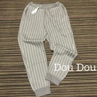 ドゥドゥ(DouDou)の¥14000【doudou】ストライプニットパンツ ニットジョガーパンツ (カジュアルパンツ)