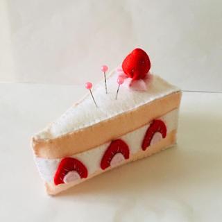 イチゴショートケーキのピンクッション(雑貨)