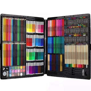 ★送料無料★絵具セット 258本 (色鉛筆、水彩絵具、クレヨン、固形水彩)
