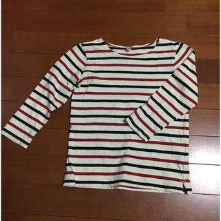 MUJI (無印良品) - 無印良品 ボーダー Tシャツ サイズ110