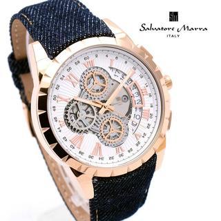 サルバトーレマーラ(Salvatore Marra)のサルバトーレマーラ 腕時計 メンズ デニム ベルト 人気 ブランド(腕時計(アナログ))