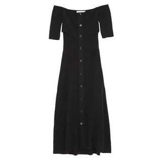 Lily Brown - リリーブラウン リブニットワンピース 新品タグ付き黒