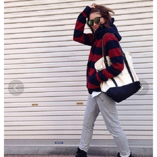 TODAYFUL - 〈TODAYFUL〉ボーダーニットコート