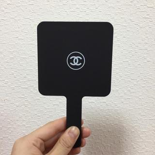 シャネル(CHANEL)のCHANEL シャネル 手鏡 ミラー 3CE風 ノベルティー ホワイトロゴ(ミラー)