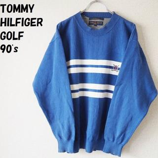 トミーヒルフィガー(TOMMY HILFIGER)の【90's】トミーヒルフィガーゴルフ コットンセーター 刺繍ワンポイントサイズS(ニット/セーター)
