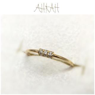 アーカー(AHKAH)のチョコ♡様専用 アーカー K18YG ホワイトナイトファイン リング ダイヤ(リング(指輪))