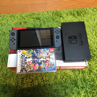 ニンテンドースイッチ(Nintendo Switch)のNintendo Switch ブラック スマブラ付き(家庭用ゲーム本体)