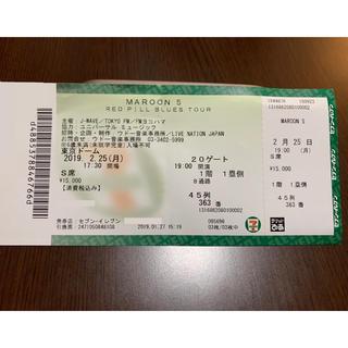 マルーン5 東京ドームチケット 1枚(海外アーティスト)