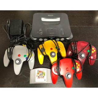 ニンテンドウ64(NINTENDO 64)の任天堂64本体 コントローラ ソフト(家庭用ゲーム本体)
