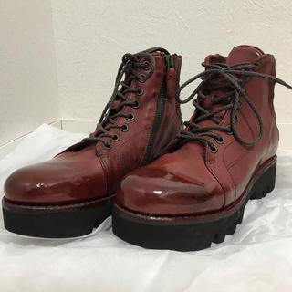 サヤ(SAYA)の【ラボキゴシ】サヤ Saya トレッキングブーツ (RED)(ブーツ)