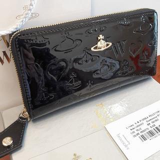 ヴィヴィアンウエストウッド(Vivienne Westwood)の❤新品❤ 本物 長財布 黒 レディース ユニセックス パンク 型押し(財布)