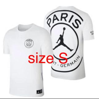 ナイキ(NIKE)のPSG パリ・サンジェルマン JORDAN ジョーダン size S (Tシャツ/カットソー(半袖/袖なし))