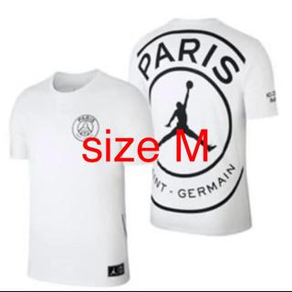 ナイキ(NIKE)のPSG パリ・サンジェルマン JORDAN ジョーダン size M(Tシャツ/カットソー(半袖/袖なし))