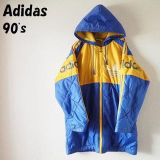 アディダス(adidas)の【90s】アディダス 中綿入りナイロンコーチジャケット アームロゴ サイズ160(ジャケット/上着)