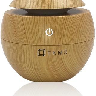 【安定の人気】アロマディフューザー 超音波式 加湿器 USB 130ml(加湿器/除湿機)