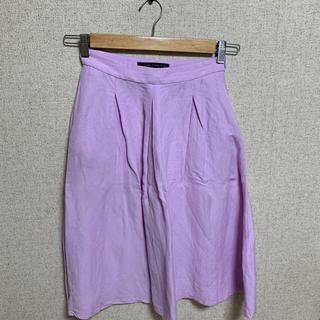 ザラ(ZARA)のZARA リネンスカート(ひざ丈スカート)