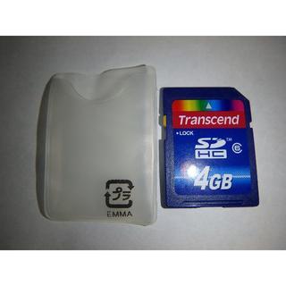 トランセンド(Transcend)の送料込! Transcend SDカード 4GB 転送HCタイプ Class6(その他)