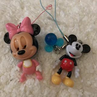 ディズニー(Disney)のミッキー ミニー ストラップ(ストラップ/イヤホンジャック)