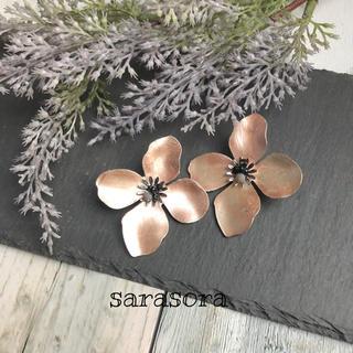 403 pink flower×hydrangea earrings(ピアス)