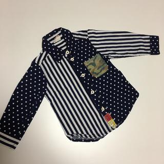 ジャンクストアー(JUNK STORE)の90cm*JUNKSTORE 柄切り替えシャツ  ジャンクストア(Tシャツ/カットソー)
