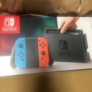 ニンテンドースイッチ(Nintendo Switch)の【新品 未開封】任天堂 スイッチ 本体(家庭用ゲーム本体)