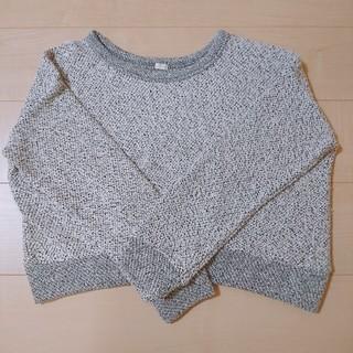 ジーユー(GU)の美品 GU M グレー ニット(ニット/セーター)