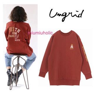 Ungrid - 完売新品定価9612‼️ Ungrid リメイクビッグロゴスウェット スウェット