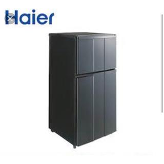 京都 カッコいい黒の冷蔵庫❗️ ハイアール 98リットル(冷蔵庫)