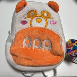 トリプルエー(AAA)のえーパンダ 西島隆弘 リュック型ポーチ オレンジ(ミュージシャン)