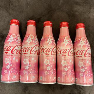 コカコーラ(コカ・コーラ)の季節限定 コカコーラ スリムボトル 桜 5本セット(ソフトドリンク)