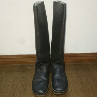 コース(KOOS)のkoos   ロングブーツ  黒(ブーツ)