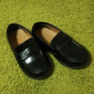 フォーマル革靴 ローファー 18cm 黒(フォーマルシューズ)