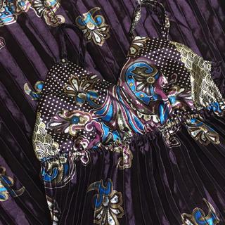 サテンプリーツロングドレス/キャバドレス(ロングドレス)