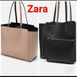ZARA - ZARAリバーシブルトートバッグハンドバッグショルダーバッグ
