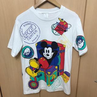 サントニブンノイチ(サントニブンノイチ)のレア 90s USA製 Disney MICKEY TRAVELER Tシャツ(Tシャツ/カットソー(半袖/袖なし))