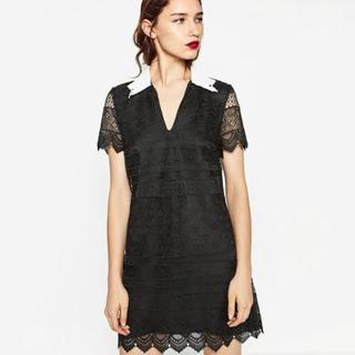ザラ(ZARA)のZara lace dress(ひざ丈ワンピース)